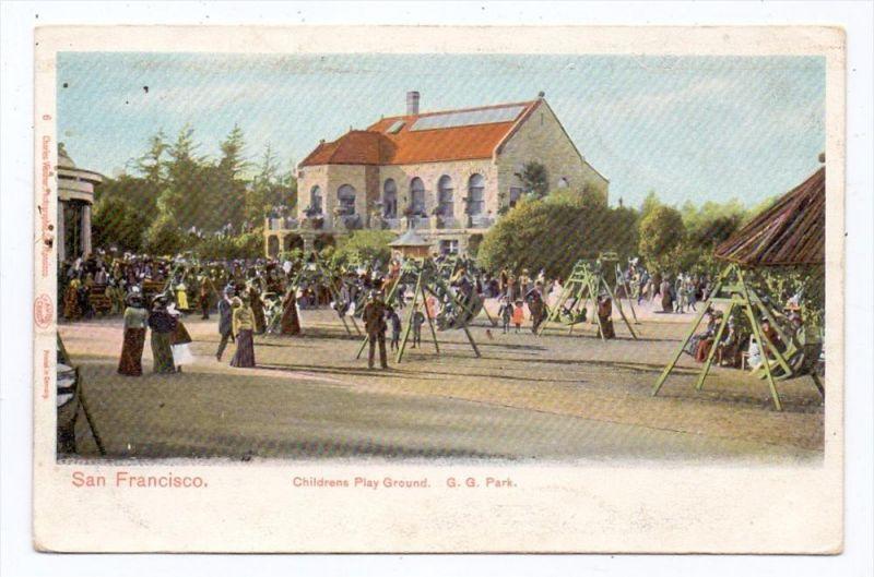 USA - CALIFORNIA - SAN FRANCISCO, G.G. Park, Childrens Play Ground, ca. 1905, undivided back