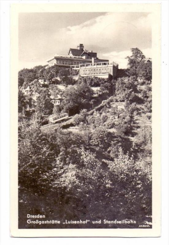 0-8000 DRESDEN - LOSCHWITZ, Gaststätte Luisenhof, Standseilbahn, 1956