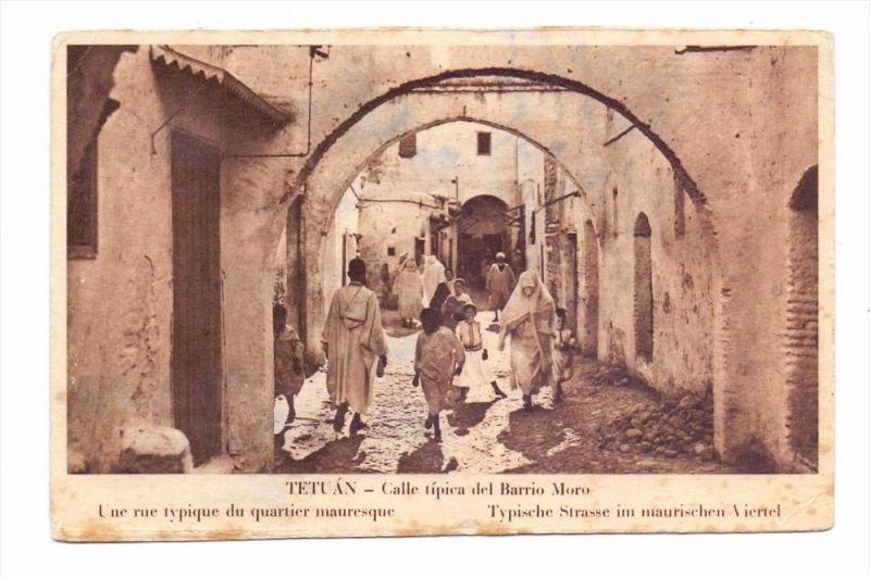 MAROC / MAROKKO - TETUAN / TITWAN, Calle del Barrio Moro, 1935
