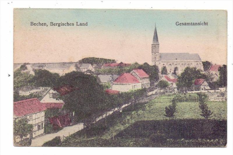 5067 KÜRTEN - BECHEN, Gesamtansicht, 20er Jahre, color