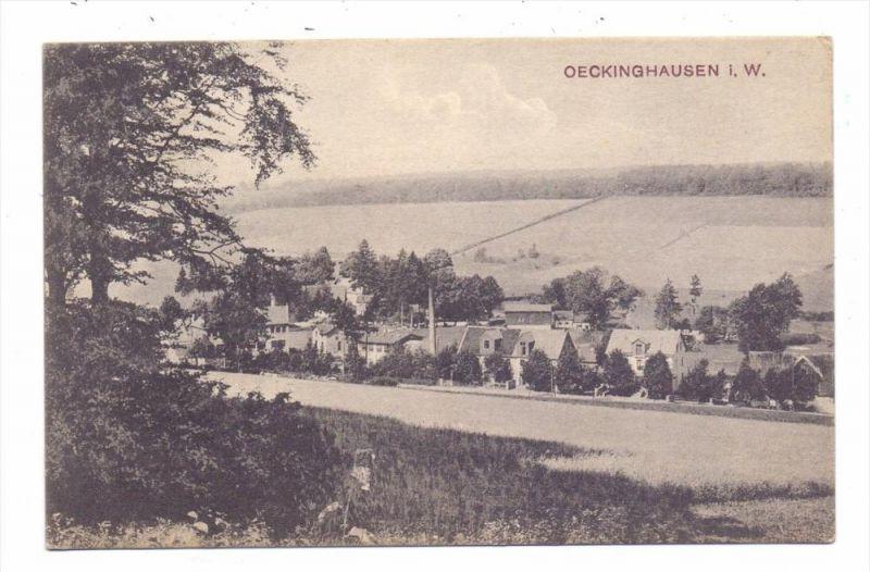 5884 HALVER - OECKINGHAUSEN, Panorama, 1909, Bahnpost Halver- Schalksmühle, Zug 47