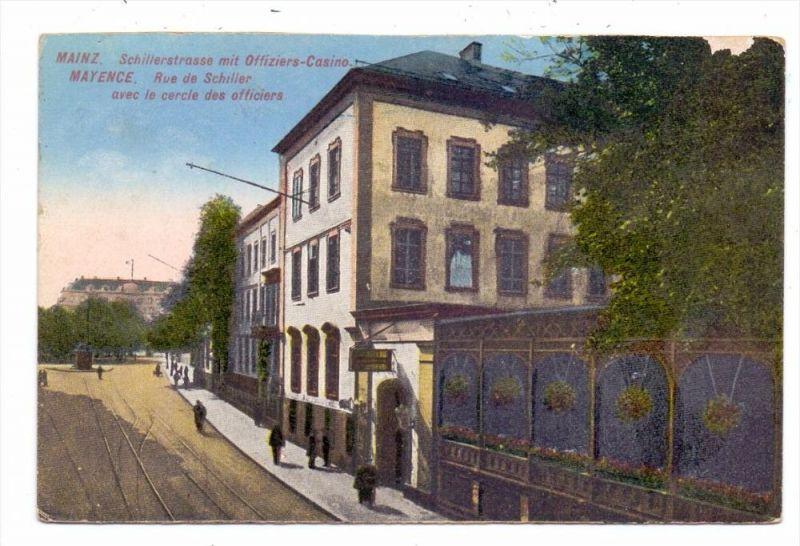 6500 MAINZ, Schillerstrasse, Offiziers-Casino, kl. Randmangel