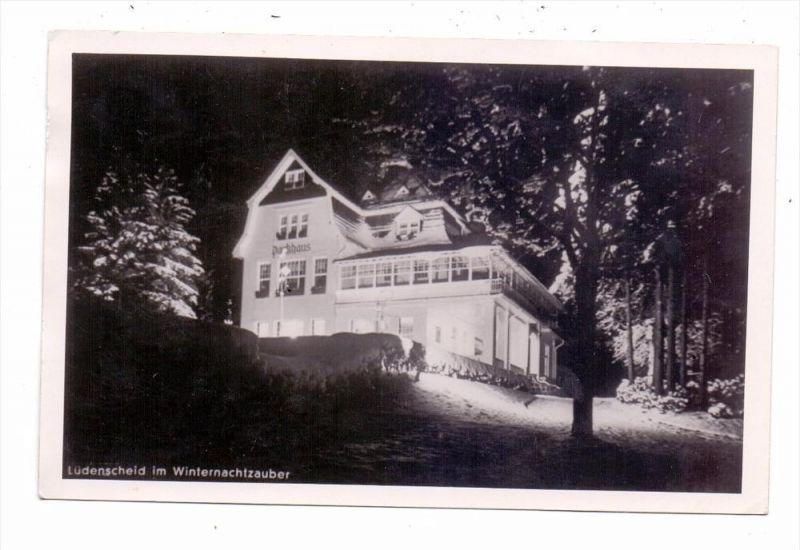 5880 LÜDENSCHEID, Parkhaus im Winterzauber, Photo-AK