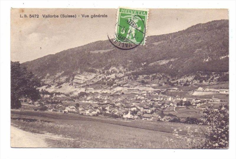 CH 1337 VALLORBE, Vue generale, 1911