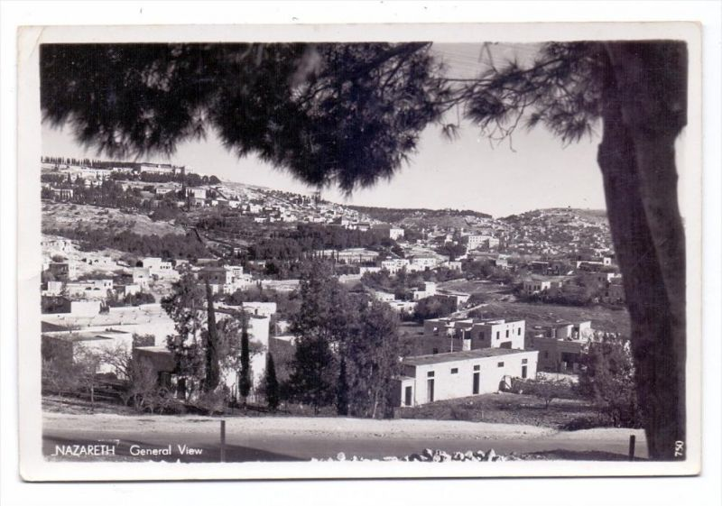 ISRAEL - NAZARETH, General view, 1955