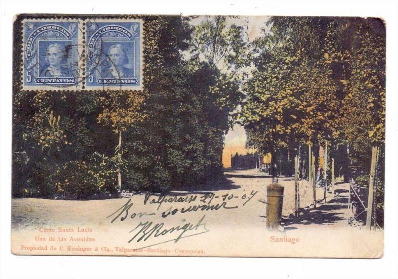 CHILE - SANTIAGO DE CHILE, Cerro Santa Lucia, 1904