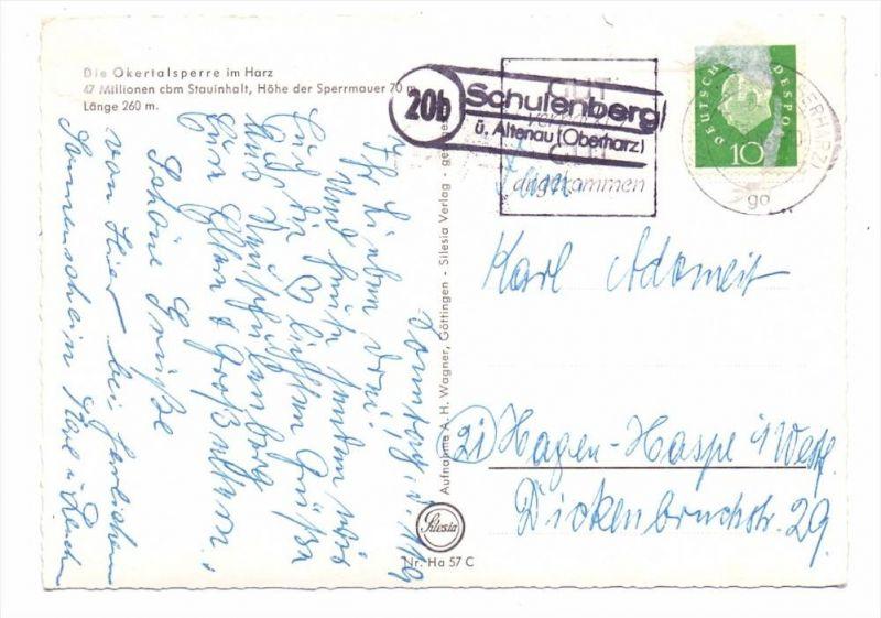 3392 CLAUSTHAL - ZELLERFELD - SCHULENBERG, Postgeschichte, Landpoststempel