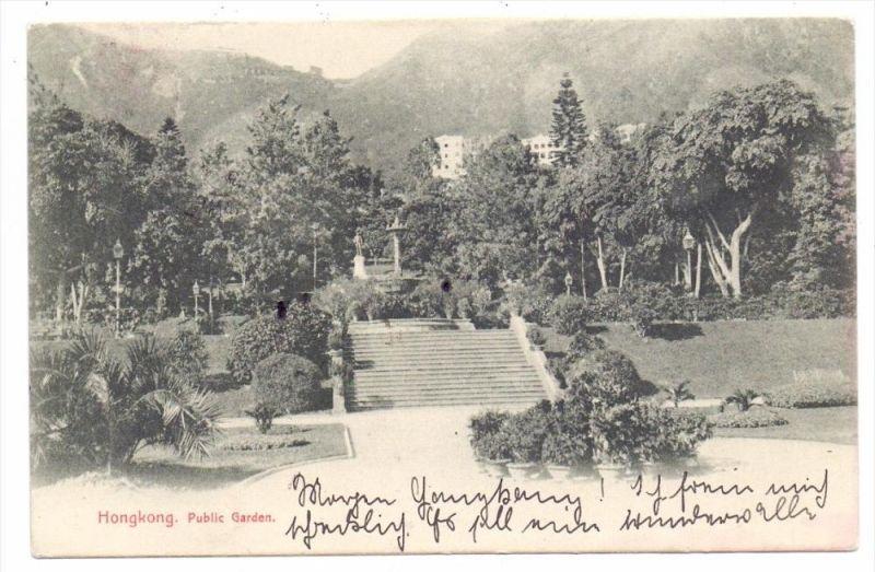 CHINA - HONGKONG, Public Garden, 1908