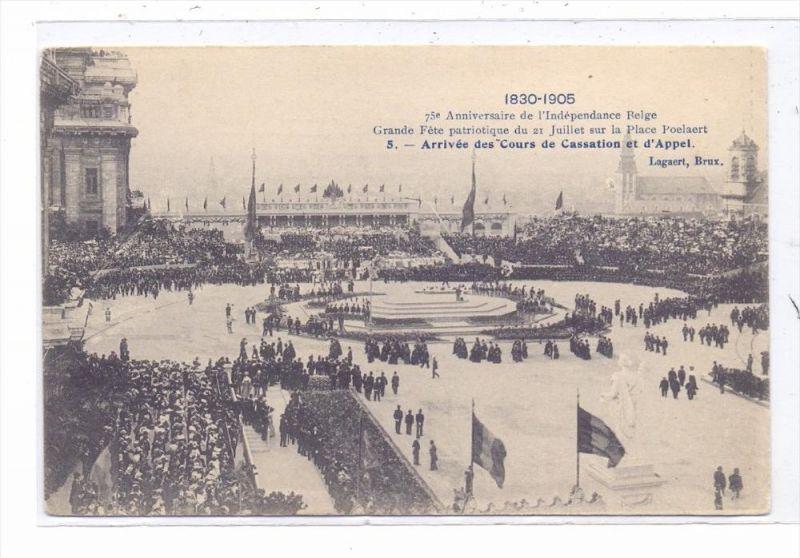 B 1000 BRUSSEL, 75 Jahr Feier Belgien, 1905