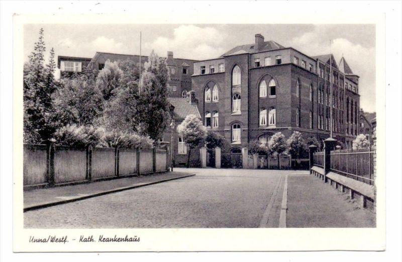4750 UNNA, Katholisches Krankenhaus, 1955, belgische Militärpost