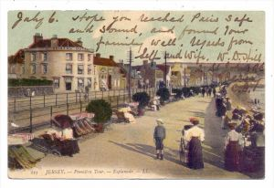 UK - CHANNEL ISLANDS - JERSEY - Esplanade, 1908, Louis Levy # 223, color