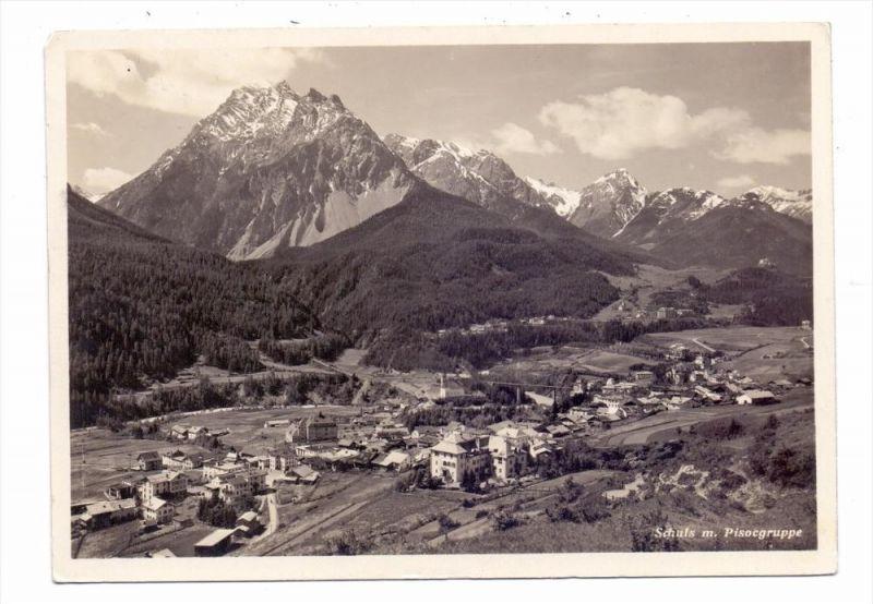 CH 7550 SCUOL / SCHULS, Panorama mit Pisocgruppe, 1929