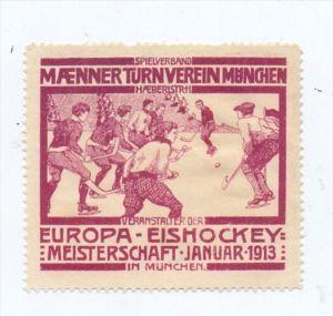 SPORT - EISHOCKEY - Eishockey-Europameisterschaft 1923 München, 1923, Vignette