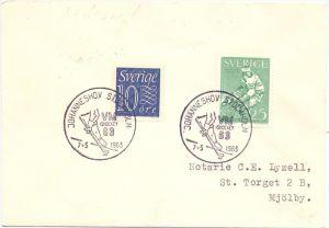 SPORT - EISHOCKEY - Sonderstempel Johanneshov, Eishockey-WM 1963, Stockholm