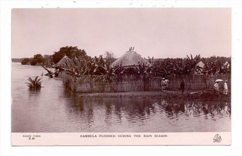 ETHOPIA / ÄTHOPIEN - GAMBELA, flooded during rain season