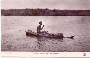 TCHAD / TSCHAD - BAHR EL GHAZAL, native canoe