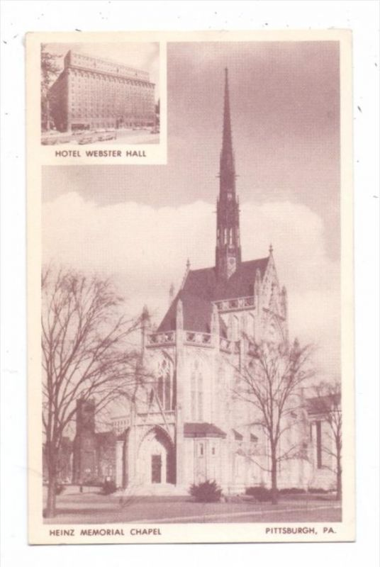 USA - PENNSYLVANIA - PITTSBURGH, Hotel Webster Hall, Heinz Memorial Chapel