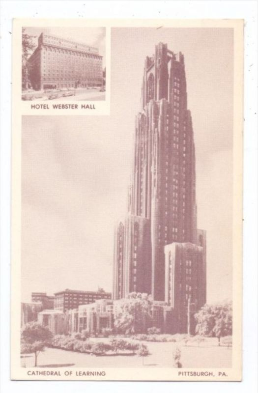 USA - PENNSYLVANIA - PITTSBURGH, Hotel Webster Hall, Cathedral of Learning