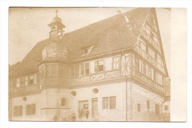 6974 GRÜNSFELD, Rathaus, Photo-AK, ex-Sammlung Kunsthalle Mannheim 0