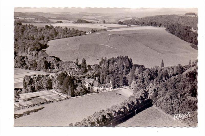 5204 LOHMAR - WAHLSCHEID, Hotel Restaurant Schloß Auel, Luftaufnahme, 1953