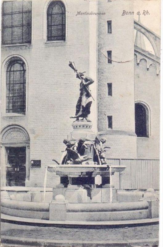 5300 BONN, Martinsbrunnen, 1914, Feldpost, Lazarett-Stempel