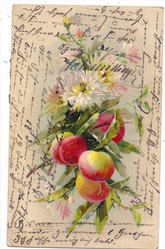 KÜNSTLER / ARTIST - CATHARINA KLEIN, Obst und Blumen, 1907