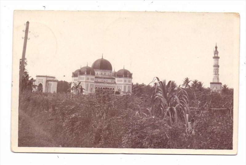 INDONESIA / INDONESIEN - MEDAN, great Mosque, Photo-AK 1930, Postagent Batavia-Rotterdam