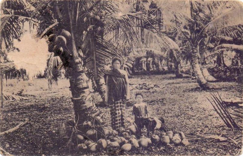 INDONESIA / INDONESIEN - SABANG, Atjehsche vrouw, Coconuts