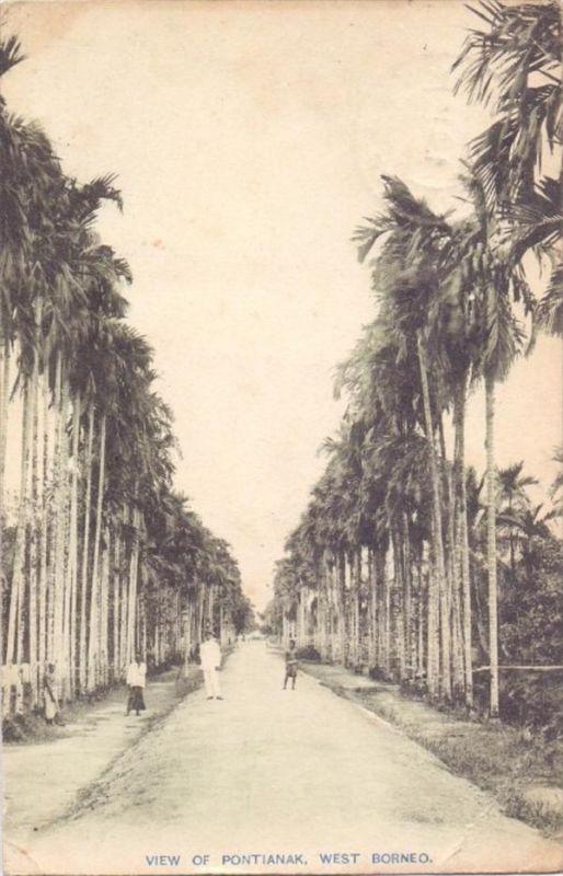 INDONESIA / INDONESIEN - PONTIANAK, street view, 1918