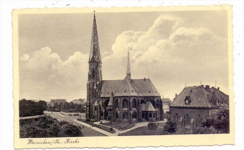 0-7201 HAINICHEN, Kirche, 1936