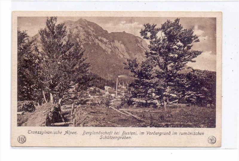 ROMANIA / RUMÄNIEN - BUSTENI, 1.Wletkrieg, Rümänische Schützengräben, Feld-Post-Karte