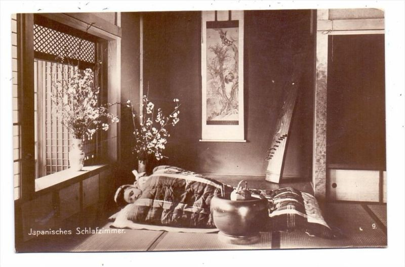 NIPPON / JAPAN   Japanese Bedroom / Japanisches Schlafzimmer, Ethnic /  Völkerkunde 0