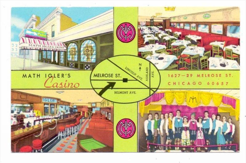 USA - ILLINOIS - CHICAGO, Math Igler´s Casino, German Cuisine, Home of the singing waiters