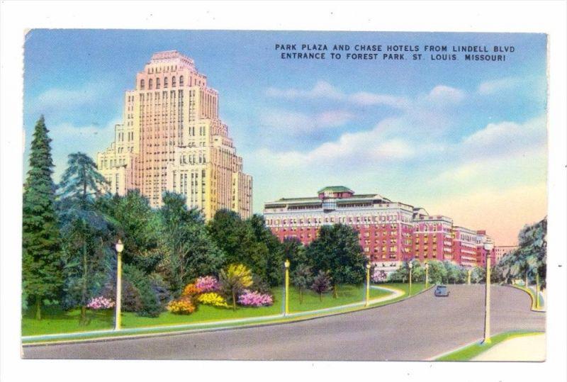 USA - MISSOURI - SAINT LOUIS, Park Plaza & Chase Hotel, 1955