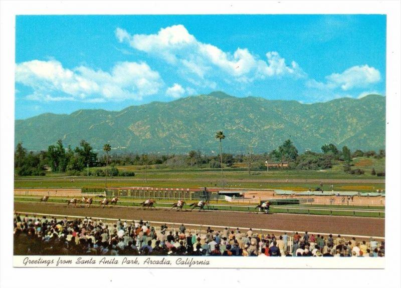 PFERDERENNEN / Horse racing / Turf, Santa Anna Park, Arcadia, California