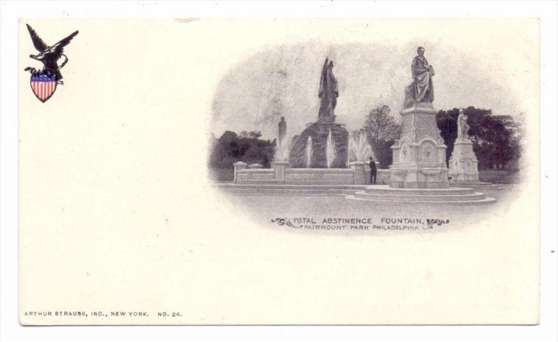 USA - PENNSYLVANIA - PHILADELPHIA, Total Abstinence Fountain, undivided back, vgc