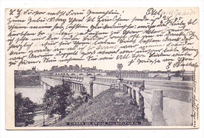 USA - PENNSYLVANIA - PHILADELPHIA, Girard Av. Bridge, 1905
