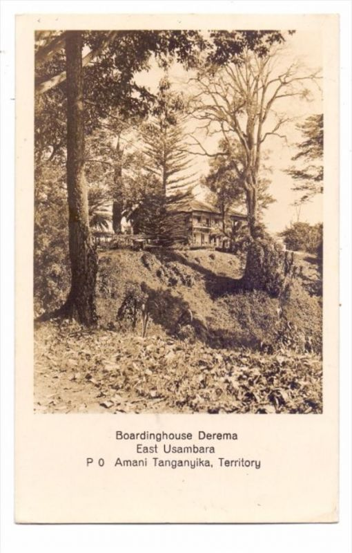 TANZANIA / TANGANYIKA - East Usambara - Amani - Boardinghouse Derema, 1937