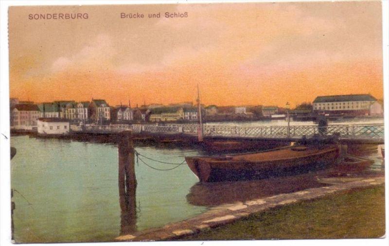 DK 6400 SONDERBORG / SONDERBURG, Brücke und Schloß, 1912
