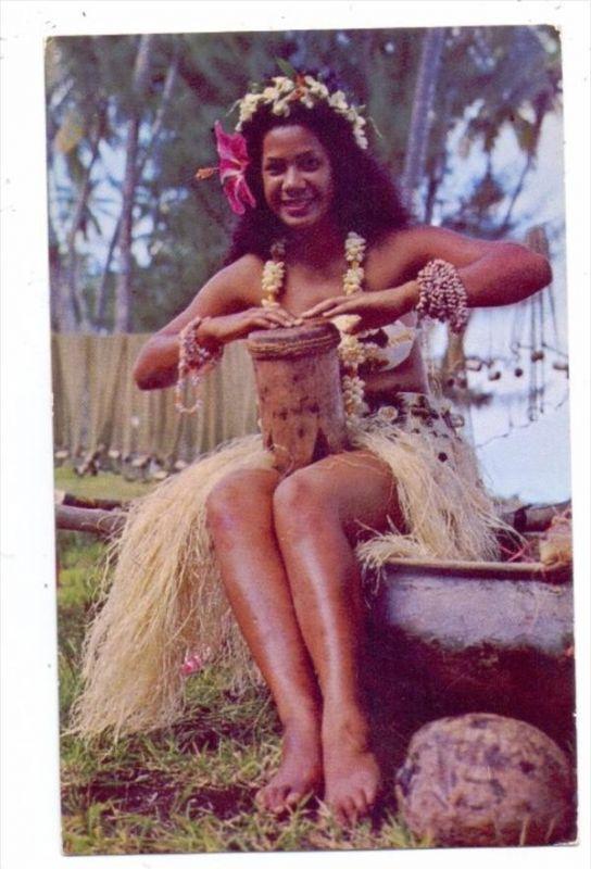 POLYNESIE FRANCAISE / FRANZ. POLYNESIEN - Tahitian dancer, ethnic / Völkerkunde