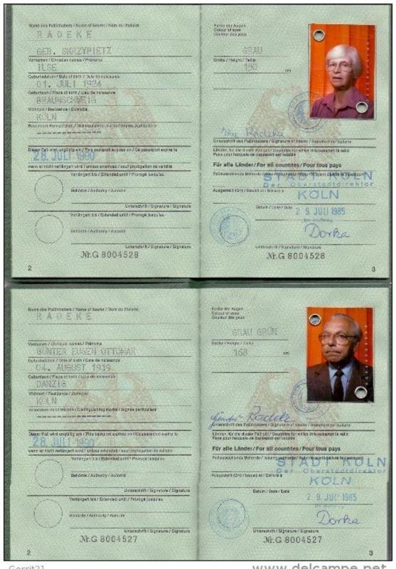 REISEPASS / PASSPORT - Deutschland, Ehepaar, DDR-Visa, komplett, + Schwerbehindertenausweis 2003