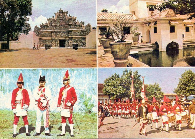 INDONESIA / INDONESIEN - YOGYAKARTA, Water Castle, Sultan's troop