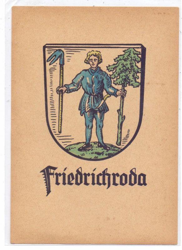 0-5804 FRIEDRICHRODA, Stadtwappen, rücks. keine AK-Einteilung
