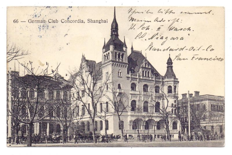 CHINA - SHANGHAI, German Club Concordia, 1911 0