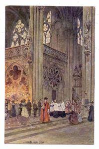 5000 KÖLN, Kirche, Kölner Dom, Innennasicht, Künstler-Karte Rüdell