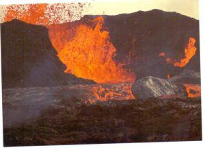 ISLAND - Vulkan, volcanic eruption, Myvatn / Myvatnseldar, 1981