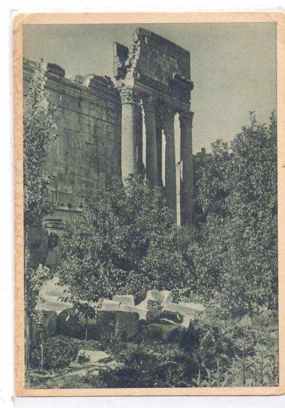 LIBANON - BAALBEK; Antiker Tempel, Ed.: Hamburg-Amerika Linie