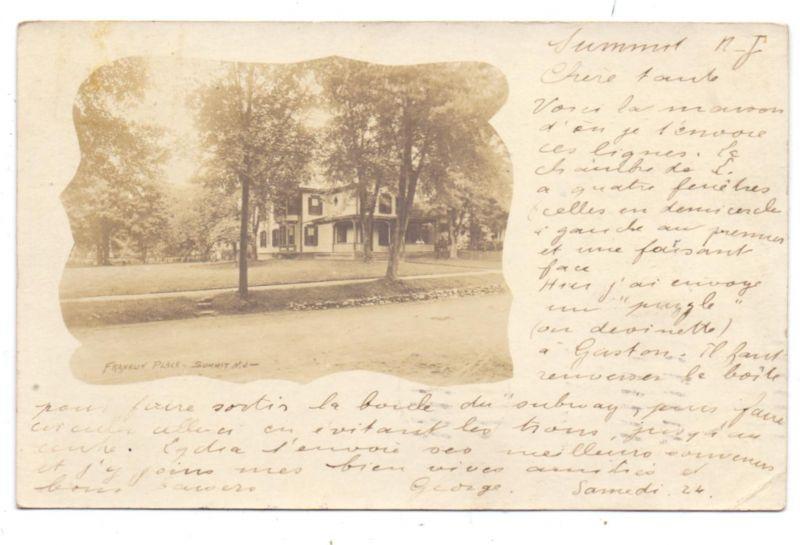 USA - NEW JERSEY - SUMMIT - Franklin Place, Photo pc., 1906