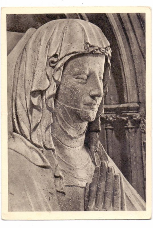 5068 ODENTHAL - ALTENBERG, Grabmal Graf Gerhard I. & seiner Gemahlin Margarethe, Kopf der Margarethe