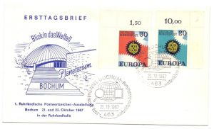 ASTRO - Planetarium Bochum, Postwertzeichen Ausstellung 1967